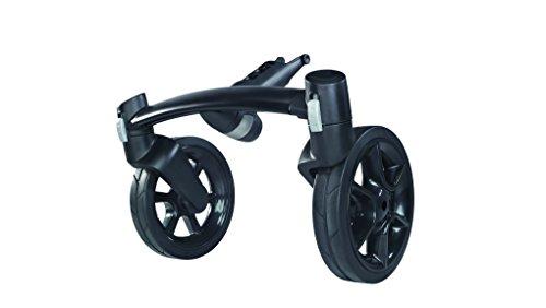 Quinny 77300080 Mood Vorderradachse, austauschbare Vorderrad-Achse mit 2 Reifen, schwarz