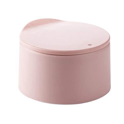 LTCTL Papeleras Pequeña de Tipo Push Escritorio Bote de Basura, Cubos de Basura Gran Abertura, con Tapa Simple Mini Cocina Sala Sala Oficina Creativo del almacenaje Cubo Cubo de la Basura
