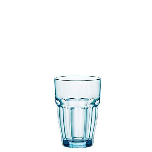 Bormioli Rocco Rock Bar Lounge Ice boisson longue verre 370ml, bleu, trempée, 6 verre