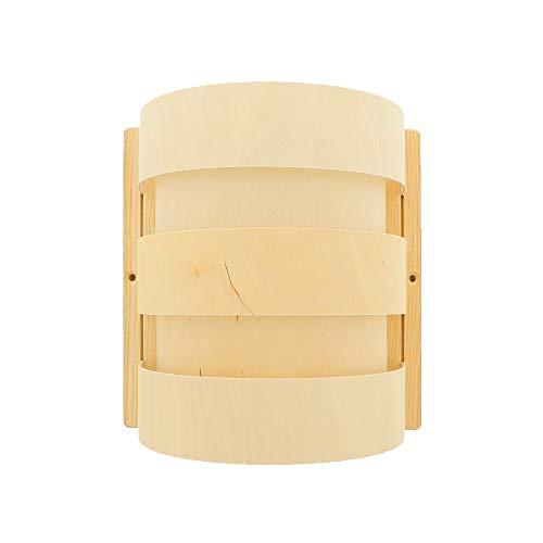 HOFMEISTER® Lampenschirm aus Holz für die Sauna-Wand, indirektes Licht für die perfekte Stimmung in der Sauna in der Sauna, 100% Made in Germany, 5 Sperrholzleisten, halbrund