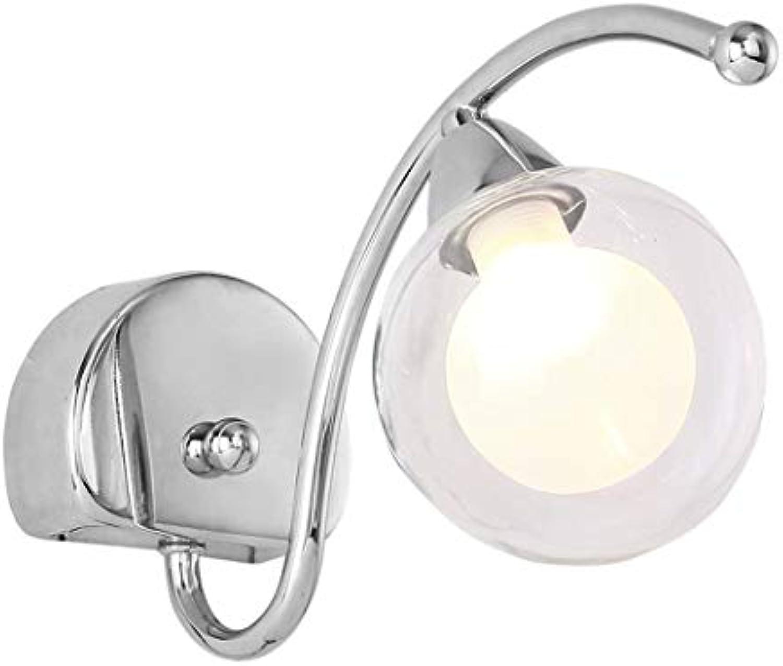 Vintage Ball Glas Wandleuchte leuchtet moderne antike Wandleuchte Leuchten moderne Nachttischlampe für Büro Schlafzimmer Coffee Shop Flur , G9,110-240V, Silber
