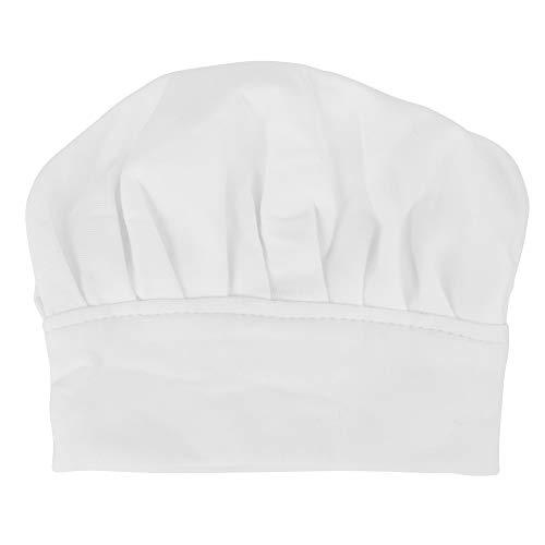 Yagosodee Sombrero de chef para recién nacido, para niños, niñas, estudio, fotografía, accesorios para disparar, color blanco