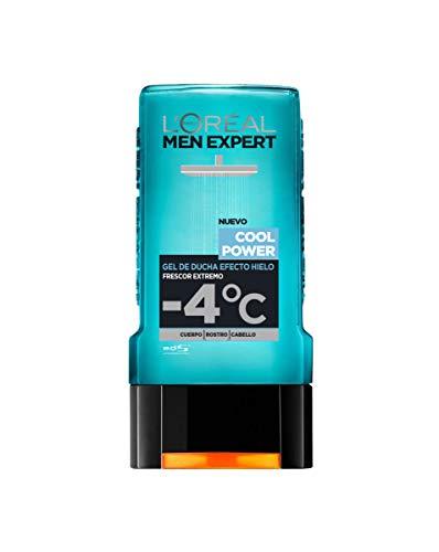 L'Oreal Paris Men Expert | Gel de Ducha para Hombre Efecto Hielo Frescor Extremo Cool Power Lot de 6