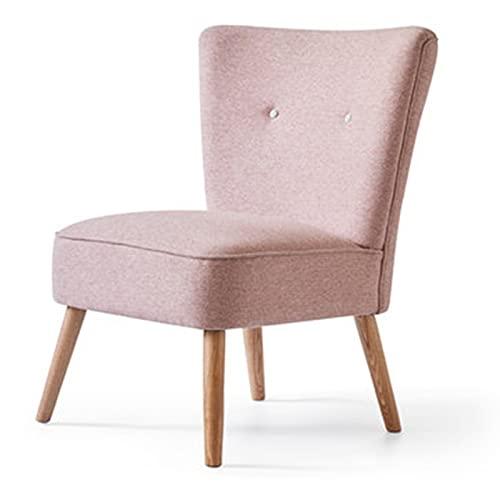 Lwieui Silla de sofá Silla de sofá Moderno Minimalista Tela Silla de Comedor Nórdico Pequeño apartamento Salón Sillón Sofá Sillones y chaises Longues (Color : Pink2, Size : 83x69x72cm)