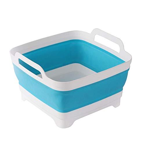 Fregadero cuadrado para lavar frutas y verduras suministro de fregadero de cocina plegable cesta de drenaje de viaje al aire libre camping portátil-01
