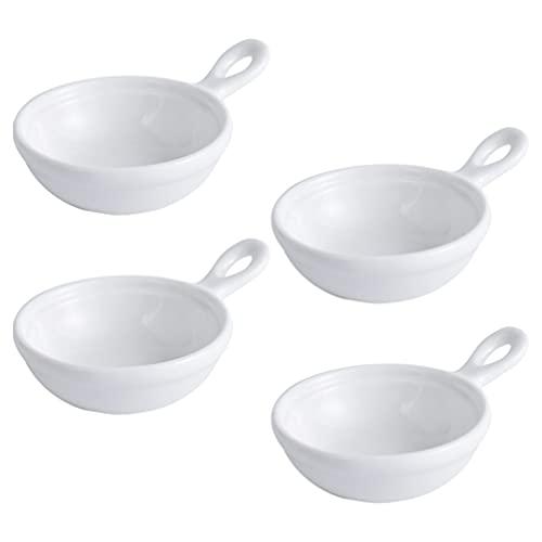 Cabilock Cuenco para salsas (4 unidades, cerámica), color blanco