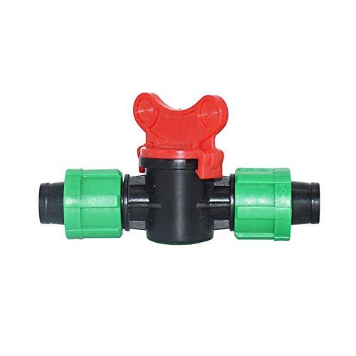 QAZXS Estable Tapón de Goteo de 16 mm Garden Garden Tap de irrigación Válvula de Agua de 2 vías Tuerca de Bloqueo de Tuerca Conector de vía Doble de púas 20pcs práctico (Size : C)