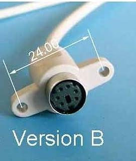 كابلات ووصلات الكمبيوتر - كبل ميني دين 6p ps2 أنثى لوحة مقبس حامل لماوس لوحة المفاتيح (الإصدار B 20 سم)