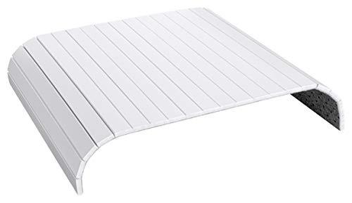 Green'n'Modern weißes Sofatablett aus Holz Bambus | Holztablett als Auflage Sofaauflage für Sofa und Sitzmöbel | Armlehnentablett Sofamatte (Weiß)
