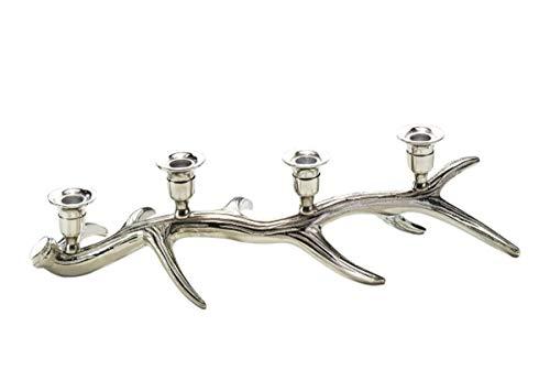 linoows Kerzen-Leuchter, Nostalgie Jagd Kerzenständer, Geweih Leuchter für Vier Kerzen
