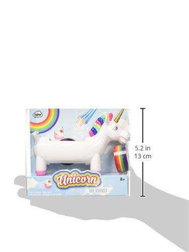 NPW Fun–Rainbow Stripe Impresión de cinta adhesiva Unicorn Dispensador