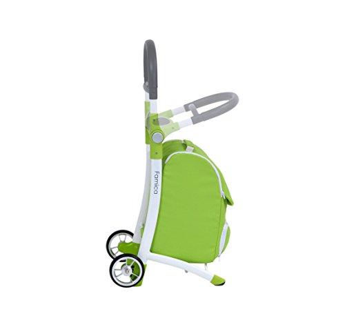 Shop N Sit Einkaufstrolley mit Sitz, von V&A Healthcare Grün / Weiß