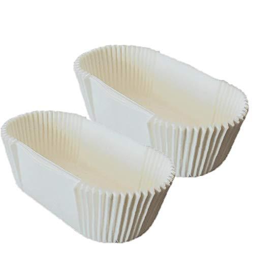 Pastel De Pañales Tazas De Bicarbonato Rectangular Antiadherentes Pañales Pañales Pan Copas Pergamino Trazadores De Líneas De Un Solo Uso Herramientas De Cocina Blanca Con Borde Recto 40pcs Índice