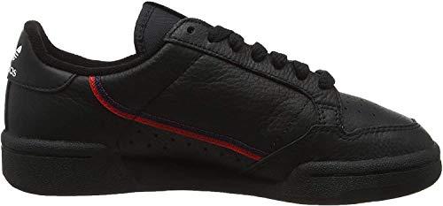 adidas Herren Continental 80 G27707 Fitnessschuhe, Schwarz (Negbás/Escarl/Maruni 000), 43 1/3 EU