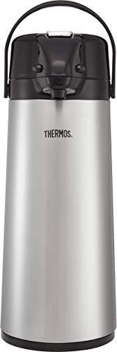 Thermos thermoskan met glazen inzetstuk, staalafwerking, 2,5 l