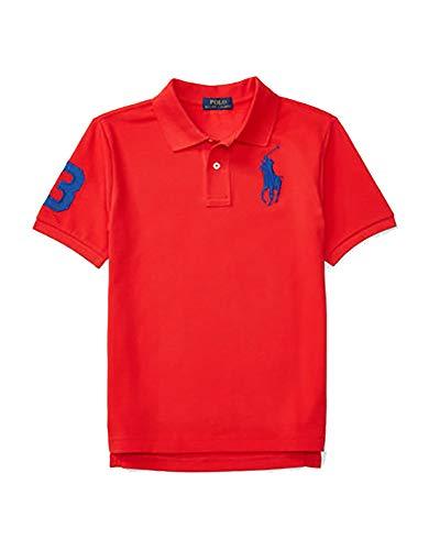 Polo Ralph Lauren Boys Mesh Big Pony Logo Polo (4T, Red)