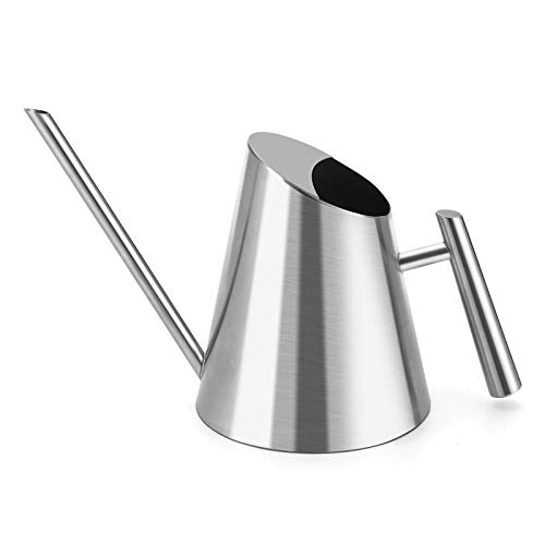 Gomyhom Watering Can for Indoor Plants, Garden Flower, Stainless Steel Watering Pot with Long Spout Small Size