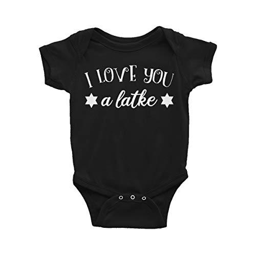 Latke Hanukkah Baby Bodysuit, Latke Hanukkah Infant Outfit, Jewish Toddler Clothes Jumpsuit 18 Month