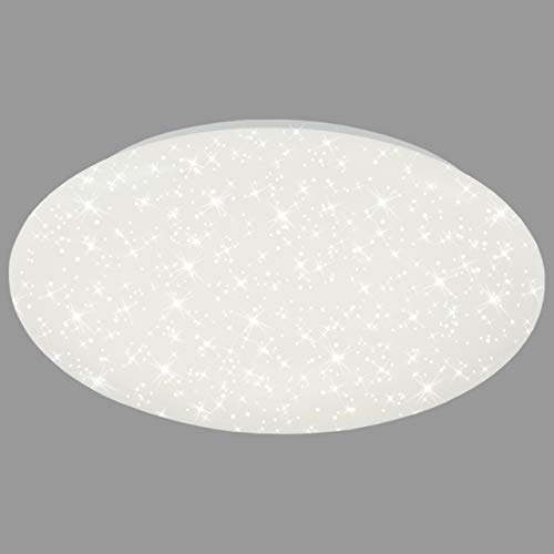 Briloner Leuchten - LED Deckenlampe mit Sternendekor, Deckenleuchte 18 Watt, 2200 Lumen, Ø 39 cm, weiß