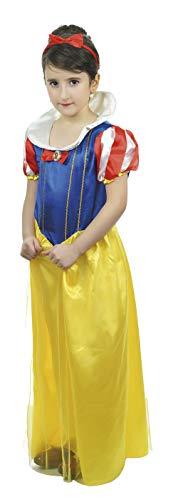 P'TIT CLOWN 81056 Déguisement Enfant Luxe Princesse - M - Jaune/Bleu