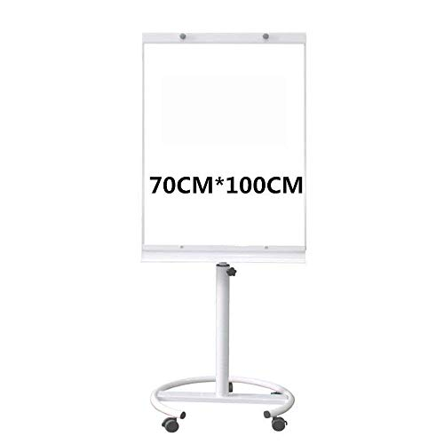 White Board Disc-Unterseite mit Brems White Plate Demo Board mit Universal-Rad Einstellbare Flip Demo Board-Klage for Büros for Kinder, Haus, Büro, Schule DAGUAI (Color : Gray, Size : 70x100cm)