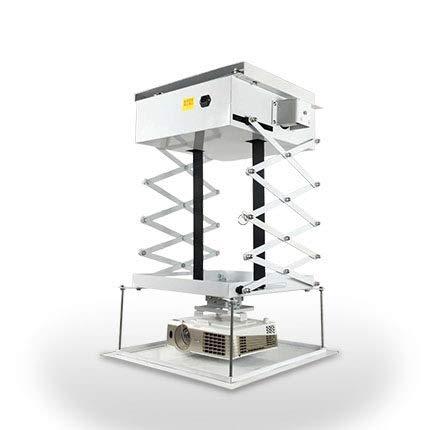 CGOLDENWALL Soporte de Techo eléctrico para proyector de elevación, Soporte de Techo para Cine, Iglesia, recibidor, Escuela, Carga máxima de 100 cm/30 kg