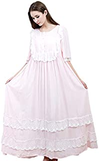 Beauenty Cotton Princess Style Plus-size Nightgown Women For Pajam-pajamas sleepwear