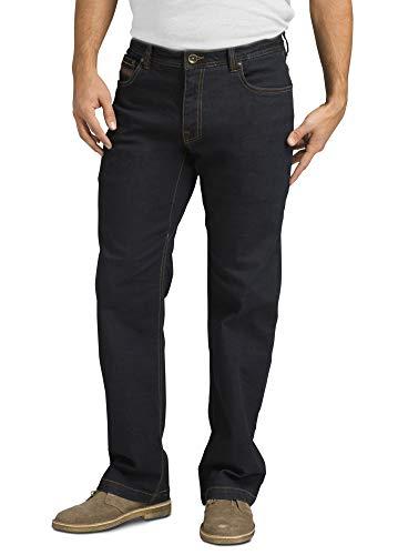 Calça jeans masculina Axiom da prAna com 81 cm de costura interna, Indigo Overdye, 31W x 32L
