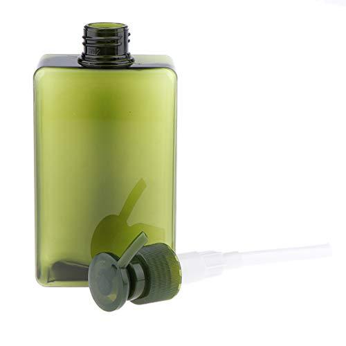 Generic Envase Recargable Plástico de Las Lociones del Champú de La Botella Vacía de La Bomba del Espray de 280ml - Verde Oscuro, Individual