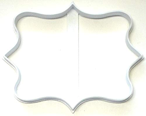 FRAME PLAQUE FANCY DECORATIVE BORDER OUTLINE RECTANGLE SHAPE SPECIAL OCCASION COOKIE CUTTER BAKING TOOL MADE IN USA PR2958