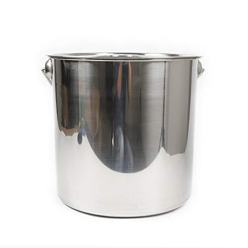 Edelstahl Eimer - 20L Kücheneimer Futtereimer Milcheimer Sektkühler mit Edelstahl Deckel für Küche, Industrie, Gastro und Privat