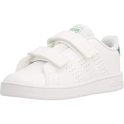 adidas Advantage I, Sneaker Unisex niños, Footwear White/Green/Grey, 27 EU