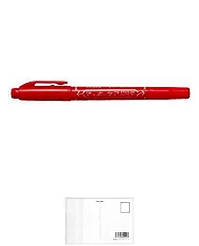 ゼブラ 油性マーカー マッキーケア超極細 (赤) YYTH3-R 【× 7 本 】 + 画材屋ドットコム ポストカードA