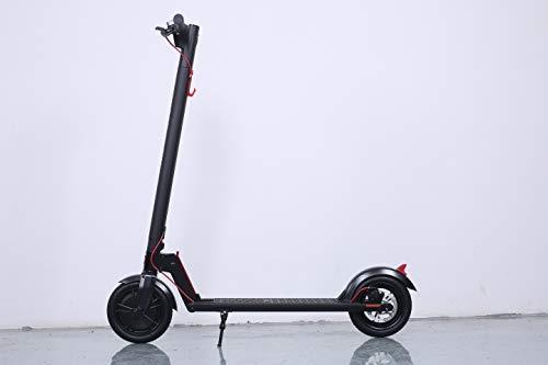 GOTRAX Patinete ELECTRICO H853 NEGO/Rojo Patin ELECTRICO, Potencia 300W y Velocidad Maxima 25Km/h, Autonomía 20Km, Tiempo de Carga 4 Horas, Carga Maxima 120kg, Rueda 8.5'' Maciza y Antipinchazos