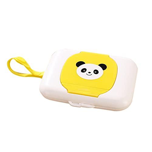 yqs Caja de pañuelos Baby Travel Wipe Wipe Funda para niños Toallitas húmedas Caja Cambio Cambio Dispensador Soporte de Almacenamiento Material de plástico Accesorios de baño (Color : D)