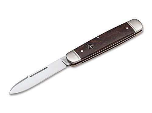 Böker Manufaktur Solingen Unisex– Erwachsene Cattle Knife Maserbirke Taschenmesser, Braun, 19,5 cm