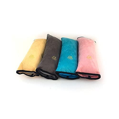 Niños Universal Seguridad Cinturón de seguridad Cubierta de almohada Proteger Pad Hombro Ajustador de cinturón de cinturón Ajustador Automático Cinta de la correa de seguridad ( Color Name : Gray )