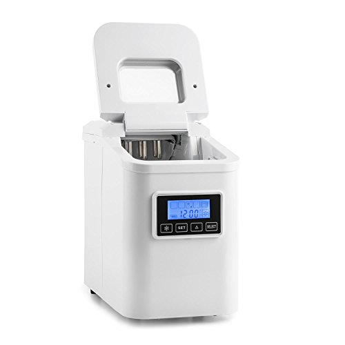 Klarstein Lannister White Edition - Máquina de cubitos de hielo, 10kg...