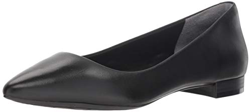 Rockport Women's Total Motion Adelyn Ballet Flat, Black Burn Calf, 8 W US