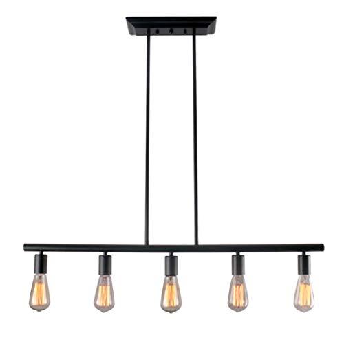 Hanglamp industriële vintage kroonluchter E27 ijzeren hanglamp 5 lampen Retro zwart hanglamp Edison landstijl hanglamp voor eettafel bar slaapkamer eetkamer keuken plafond verlichting