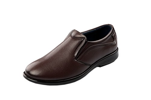 Zebra Men's Formal Brown Leather Shoe-10