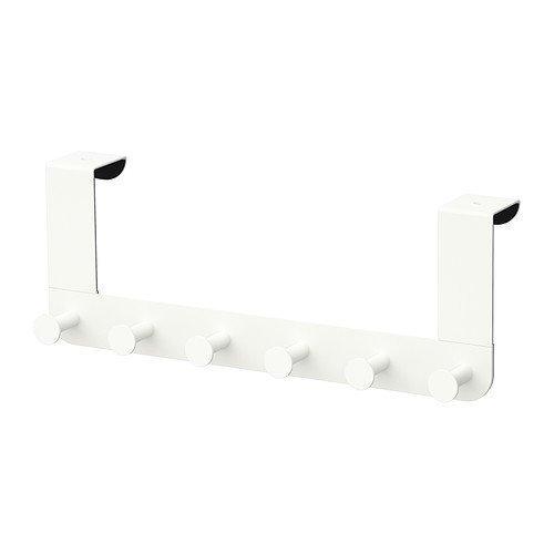 3 percheros Ikea Enuddenpara puerta, color blanco