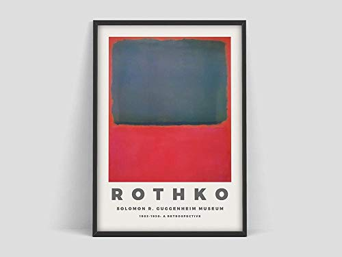 Mark Rothko Poster, Druck für das Guggenheim Museum, Kunstausstellung, Mark Rothko Druck, rahmenloses Leinwandbild Q-7 50x75cm