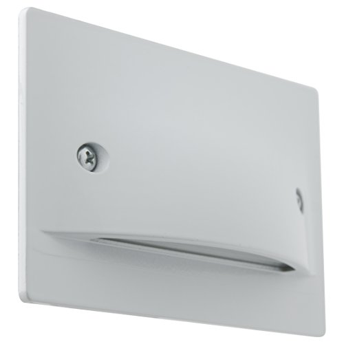 Sunlite LFX/SL/H/3W/W/30K LED Step Light Horizontal Wall Mounted Fixture Damp Location, Warm White 3000K White Finish