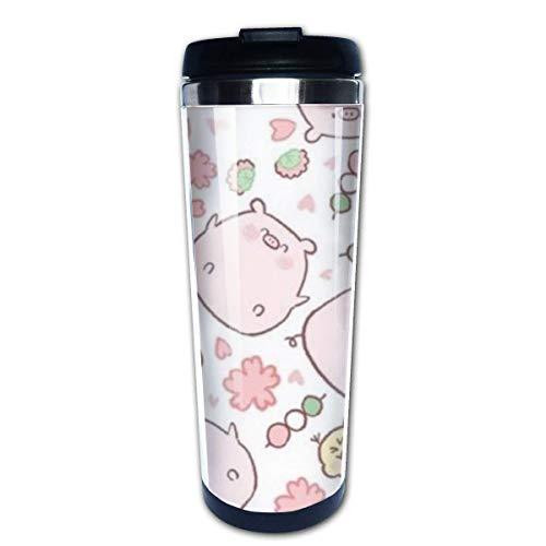 Taza de café de viaje Pink Pig Taza de café con aislamiento de acero inoxidable Botella de agua deportiva 13.5 Oz (400 ml) MUG-6492