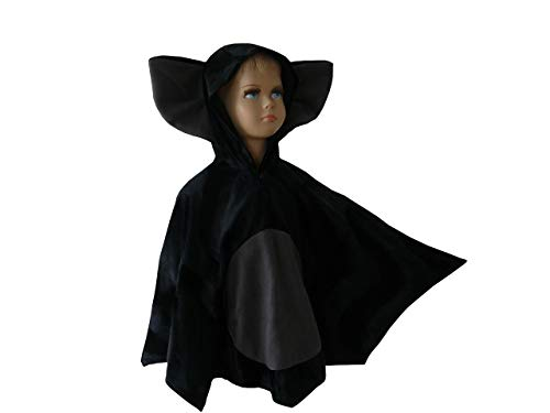 fasching karneval halloween kostüm cape für kleinkinder aus fellimitat fledermaus