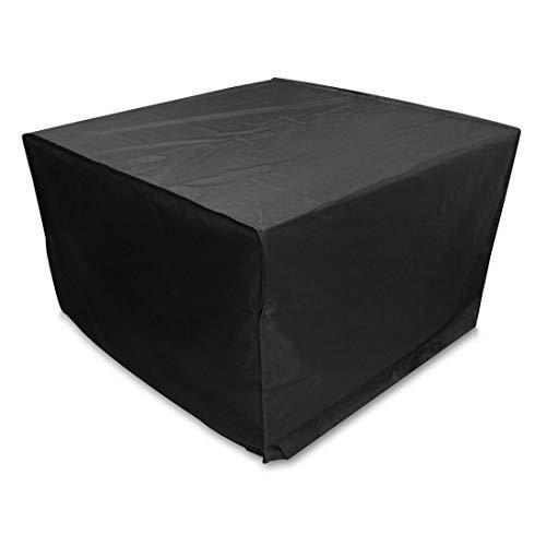 Artículos para el hogar Muebles WjAnti-UV a Prueba de Agua a Prueba de Polvo Sillas Mesa Plegable 210D Oxford Tela Cubierta Protectora al Aire Libre Juego de Tapas, tamaño: 123 * 123 * 74cm (Negro)
