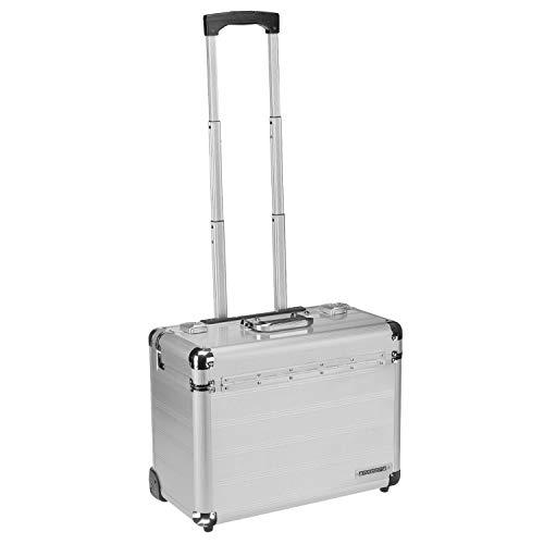Business Trolley Pilotenkoffer Laptopfach TSA Schlösser Aluminium Oberfläche Silber