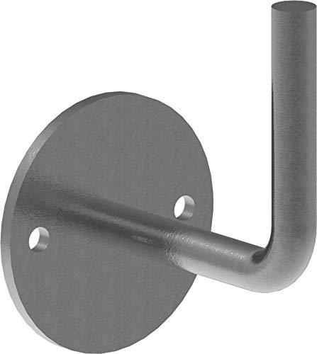 Fenau | Handlaufhalter | mit Ronde 70x6 mm | zum Anschweißen | Stahl S235JR, roh | Handlaufträger Schmiedeeisen für Handlauf/Balkongeländer oder Treppengeländer