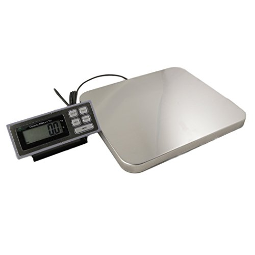 LW Measurements LSS400 Digital Scale 11 Back-lit LCD Display Capacity 400 lb Resolution 01 lb 14 x 16 x 175 Platform